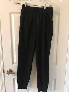 Zara pants with zipper and tie waist