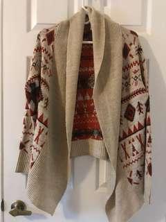 Roxy knit cardigan size XS