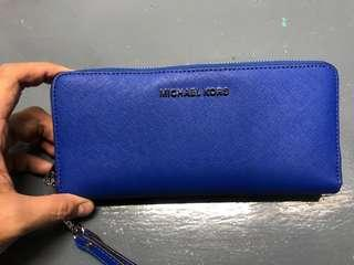 Michael Kors Blue Travel Wallet