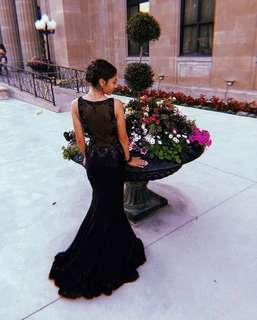 Gorgeous Black and Silver Sequin Evening / Prom / Wedding / Graduation Dress