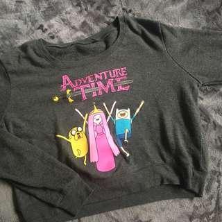 Adventure Time Cropped Sweatshirt