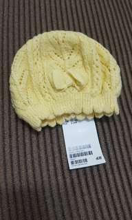 H&M Beanie Crochet Hat in Yellow