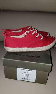Youth Boys Country Road Red Canvas Shoes (Size 33)