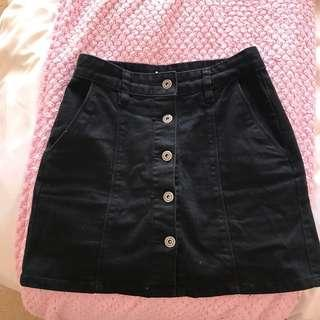 Junkfood black denim skirt