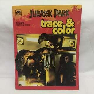 Jurassic Park - Trace and Coloring Book