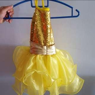 Beautiful sparkling girl dress costume party