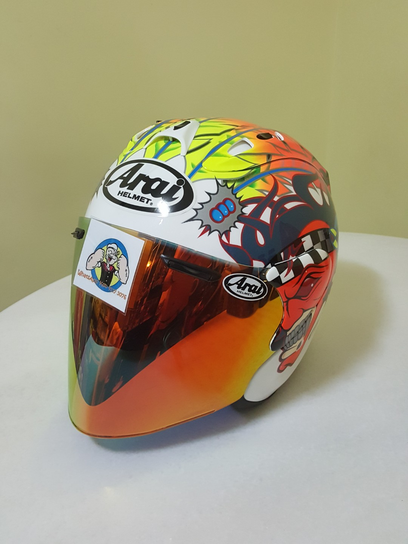 7efe7c41 0710👀👁🔐 TSR RAM4 Scott Russell CONVERT TO ARAI Helmet For Sale ...