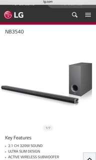 LG soundbar (NB3540) bluetooth wireless subwoofer 320w