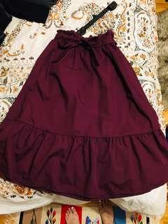 Uniqlo skirt with tie