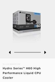 Corsair H60 liquid cooler for cpu