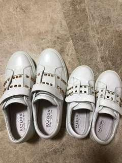 Pazzion white sneakers (mother and daughter set)