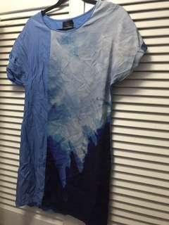 Plains and prints blue dress