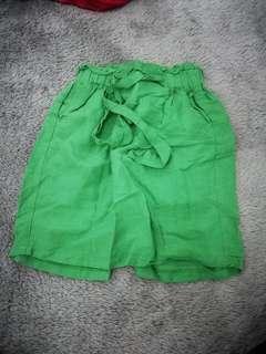 Mini Green Skirt with Bow