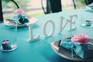 L.O.V.E table display