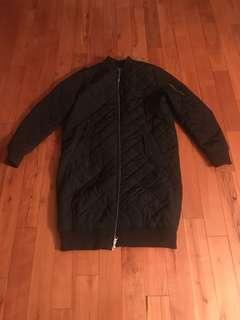 Adidas Long Quileted Bomber Jacket