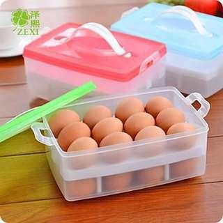 🚚 🐣便攜式雙層雞蛋保鮮收納盒🥚🥚