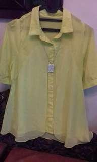 #1010 Blouse kuning (no deffect)