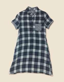 🚚 洋裝🍦藍綠格紋