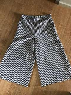 Navy blue and white stripped cullotes size 10-12