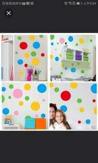 4 colour $20 Kindergarten bedroom children room cartoon color circle wall decoration wall sticker stickers wall stickers self-adhesive bedroom