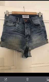 🌿 One Teaspoon Americano Lovers size 23 Xxs 💕rrp $119 high waisted denim shorts