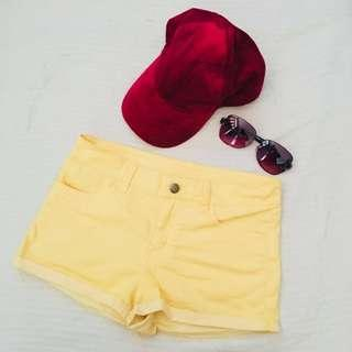 H&M Yellow Shorts