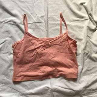 Forever21 pink cropped cami