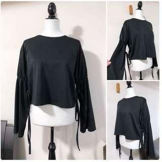 Zara S Blouse with Bell Tie Sleeves