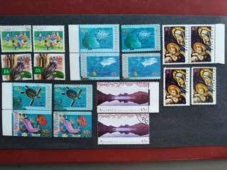New and used stamps