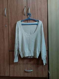 Preloved Long Sleeved Cream Top