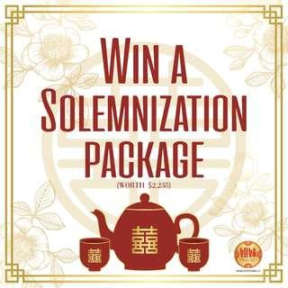 [GIVEAWAY] Win A Solemnization Package
