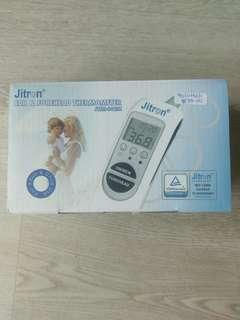 Ear forehead thermometer