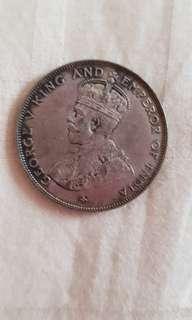 Singapore straits settlement 50 cents Coin 1920