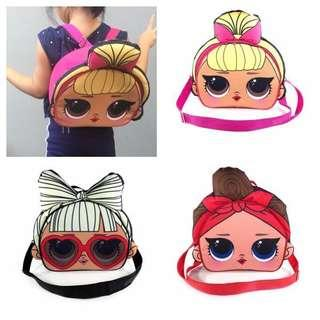 Preorder- LOL 2 way bag (sling & back pack)