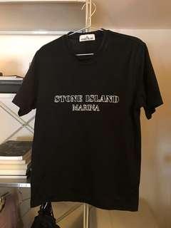 STONE ISLAND MARINA 黑T Size S 字有夜光