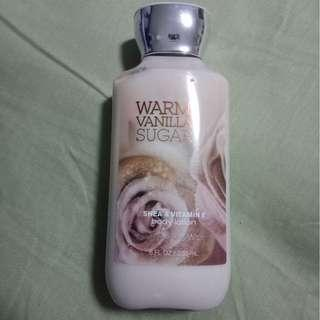 Warm Vanilla Sugar lotion