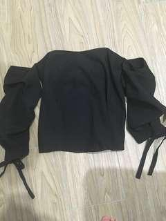 Cut off shoulder blouse