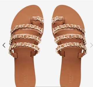 Seed Heritage Gold Chain Slides