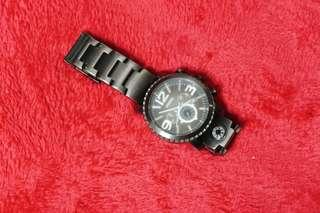 Men's Fossil Gage Plated Steel Chrono Compass Watch JR1252