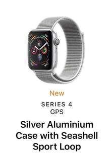44mm Apple Watch Silver Seashell Loop