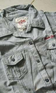 Kemeja denim jeans nevada