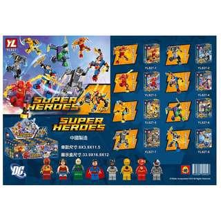 YL™ 827 DC Super Heroes 8in1 Minifigures with Mech Combine