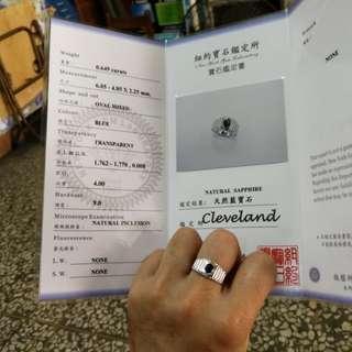 🚚 藍寶石戒指含鑑定書只售9800元