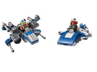 Lego Starwars 星戰 75196 A-wing vs 75125 X-wing Fighter 機體連人仔