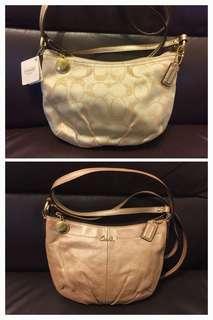 Coach 斜揹手袋兩個只售$320(全新及二手)