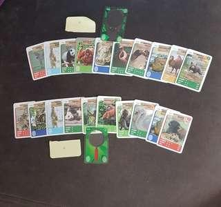 Collectible animal cards