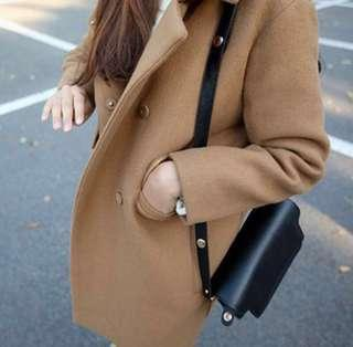Winter Warm Lapel Long Sleeve Coat