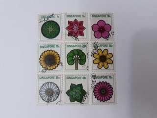 Singapore used stamp set