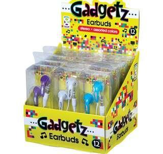 Gadgetz Earbuds 5歲以上可以小朋友聽音樂耳筒藍色