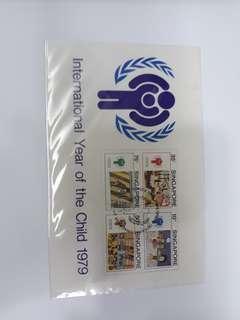 Singapore used stamp set sheet.